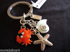Coach Ocean Crab Snail and Starfish Mix Keychain Key Fob Key Riing Charm NWT