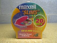 Maxell CD-355 Slim CD/DVD Jewel Cases, 20 pk (Assorted Colors)