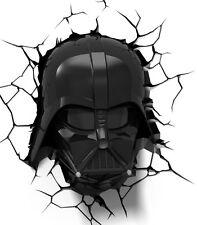 3d Star Wars Ep7 Darth Vader Wall Light - Black