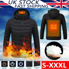 Electric Thermal USB Padded Coat Battery Heated Hoodie Jacket Body Warmer Winter