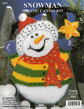 Plastic Canvas Kit ~ Design Works Reach for the Stars Snowman #DW1471 OOP SALE!
