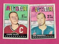 1967-68 TOPPS RANGERS MARSHALL + HAWKS PILOTE  ALL STAR  CARD (INV# C6849)