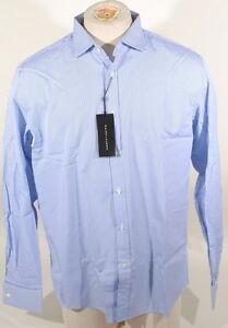 Ralph Lauren Black Label Lt Blue/White Stripe Dress Shirt Italy 100% Cotton B2C