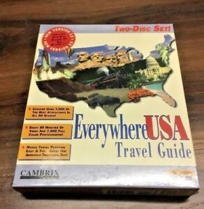 Vintage Everywhere USA TRAVEL GUIDE 1995 Big Box Factory Sealed By CAMBRIX NEW!