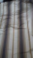 1 SINGLE neutral stripe door curtain BLACKOUT lined  HUGE