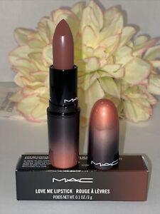 MAC LOVE ME Lipstick Full Size 409 COFFEE & CIGS New In Box Authentic Fast/Free