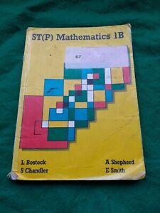 ST(P) MATHEMATICS 1B
