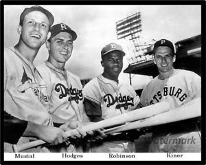 MLB 1949 All Star Game Musial Hodges Robinson Kiner 8 X 10 Photo Picture