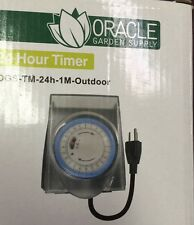 Single Outlet OGS 120v / 24 Hour Outdoor Timer 15A 1725W SAVE $$ W/ BAY HYDRO $$