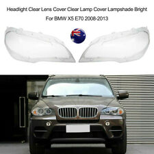 Pair Headlight Lens Shell Cover Lampshade Lamp Cover For BMW 2008-2013 X5 E70 AU