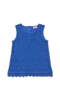 BNWT, Vest, Lace Front, Girls, Size  0 - 1, Fit Child - 09 - 12 Months, Blue