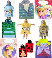 NEW KIDS DISNEY CHARACTER SUMMER HOLIDAY HOODED BEACH SUN PONCHO ONE SIZE TOWEL
