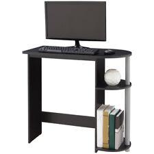 Computer Desk Table Workstation Storage Built-in Shelf Black Laptop Table