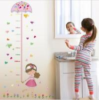 Girl's Height Wall Measure Sticker Decal Kids Vinyl Wallpaper Girl Room Decor