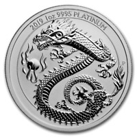 2019 Australia 1 oz Platinum Dragon BU - eBay Exclusive Coin!