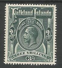 FALKLAND IS SG66 THE 1912-20 GV 3/- SLATE GREEN  FINE MINT CAT £95