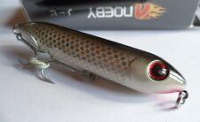 Noeby leurre pêche surface mer rivière 9cm 12,5g gris écaillé holo