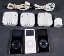 Bundle of 3 Untested Apple iPod Mp3 Players w/Ear Buds - For Parts/As-Is - Lot