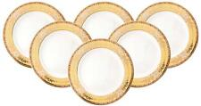 Royalty Porcelain 6-pc Yellow Gold 'Сhamomile' Set of Plates for 6 (Dinner 10.5)