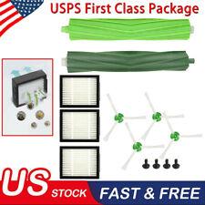 For iRobot Roomba i7 E5 E6 Vacuum Cleaner HEPA Filters Green Side Roller Brushes
