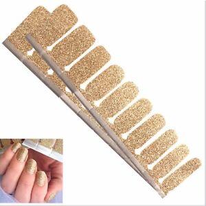 Jaysea Nails 100% Polish Strips - Color Gold Glitter Street Nail Art -B4G1 Free!