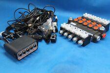 HYDRAULIC BANK MOTOR 5 SPOOL VALVES 50L/MIN ELECTRIC 12V + CONTROL PANEL