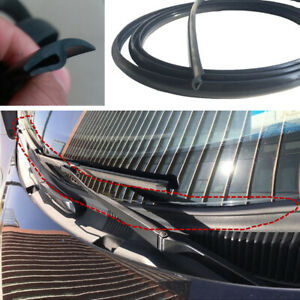 1.8M Black Rubber Seal Under Front Windshield Panel Sealed Strips Car Accessory