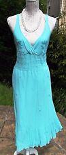 Warehouse silk sequined sundress UK 12 aqua green Beach Holidays Cruise