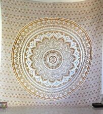 Twin Ombre Indian Tapestry Mandala Gold Cotton Wallhanging Hippie Tapestries