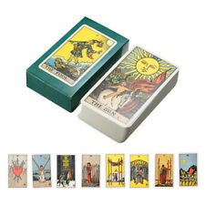 Tarot Cards Deck Vintage Antique High Quality Colorful Card Box Game 78 Cards