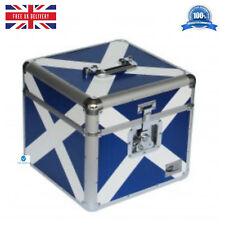1 x NEO ZILLA Flight DJ Carry Case to Store 100 LP 12 Vinyl Record SCOTTISH FLAG