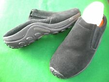 LADIES NEAR NEW COLORADO BLACK SUEDE LEATHER SLIP ON LOW WEDGE  SHOES SIZE 10