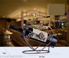 New European Decoration Antique Brass Wrought Iron Heart-Shaped Wine Rack &$