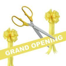 "36"" Yellow/Silver Ceremonial Ribbon Cutting Scissors Grand Opening Kit"