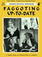 Weldon's 4D #111 c.1936 Vintage Instructions for Faggoting - Vintage Sewing