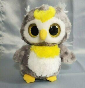"Aurora YooHoo & Friends Gray Yellow Penguin Plush 6"" Makes Magic Sound Large Eye"