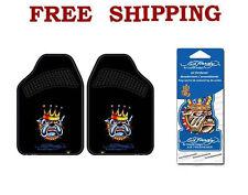 New Ed Hardy Bulldog King Car Truck Carpet Floor Mats & Air Freshener Set
