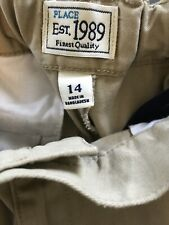 Boys Size 14  Kaki Chino Pants Children's Place  Pre-owned