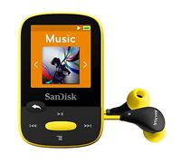 SanDisk Clip Sport MP3 Player 8GB Yellow holds 2000 songs