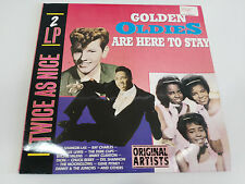 """GOLDEN OLDIES ARE HERE TO STAY 2 X LP 12"""" VINYL VINLO G+/VG GERMAN EDITION 1988"""