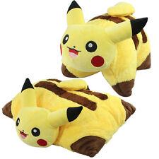 "New 17"" Pokemon Transforming Pillow Pikachu Pillow Pet Plush - Cushion Doll Toy"