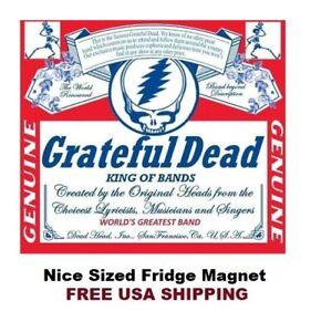 625- Grateful Dead Budweiser Beer Nice Large Refrigerator Magnet