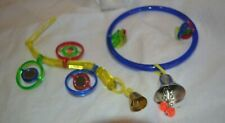 Parakeet/Budgie Toys * Colorful Plastic * Mirrors & Bells *Hanging * Swinging