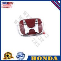 1x003 For Honda 06-15 Civic 4DR Sedan FiT JDM RED H Type R Front Emblem badge