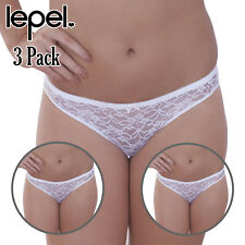 Lepel Lyla Brief Mid Rise Knickers 131310 Cotton Lined Gusset Lace Lingerie