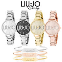 OROLOGIO DONNA LIU JO LUXURY COUPLE CON BRACCIALE RIGIDO ABBINATO ORIGINAL 2019