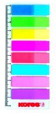 Kores Pagemarker  Folie, 12 x 45 mm, Neonfarben Haftstreifen mit Lineal