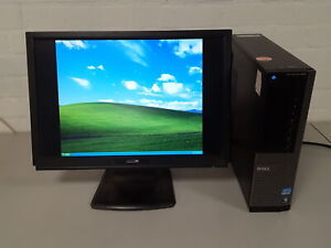 Dell Optiplex 990 PC Windows XP Desktop Computer + PC H224W LCD