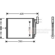 Kondensator Klimaanlage - van Wezel 74005038