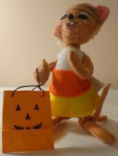 "Annalee 6"" Candy Corn Mouse Poseable Doll Figure Fall Halloween Trick Or Treat"